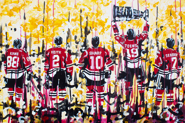 8.2.13 > Chi Town > 36x24 inch Acrylic Painting on canvas > NOT AVAILABLE FOR PURCHASE