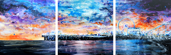 12.21.15   > Reflecting Dusk > 24x24 inch Acrylic Painting Set on canvas > CLICK IMAGE TO PURCHASE