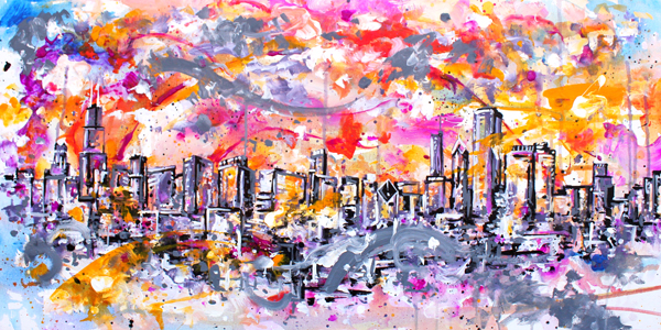 1.13.16  > Impression One > 48x24 inch Acrylic Painting on canvas > CLICK IMAGE TO PURCHASE