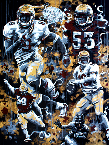 1999 > 36x48 inch Acrylic Painting on canvas