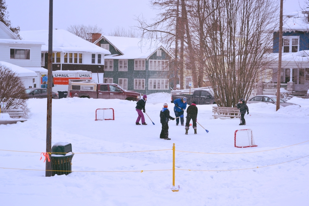 Rutland Winter Fest first broom ball game!