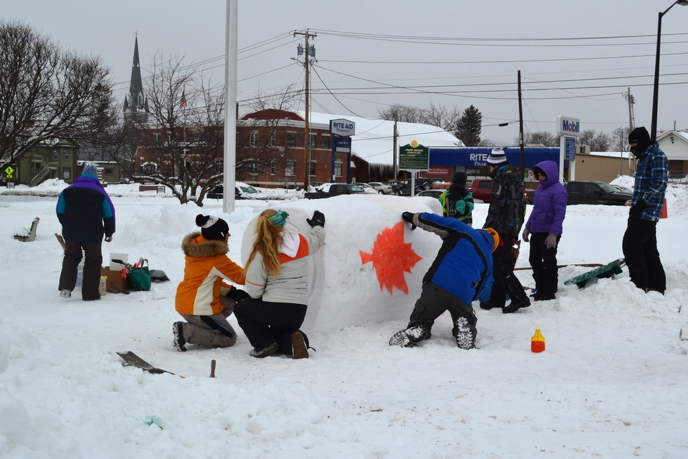 Rutland Winter Fest Christ the King and Mount Saint Joseph Schools digging away