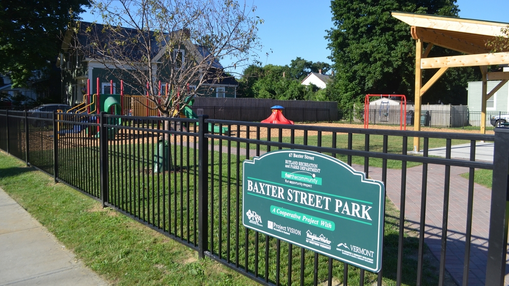 Baxter Street Park (corner of Baxter St and Library Ave) Completed July 2016 Photo: Kayla Ploof