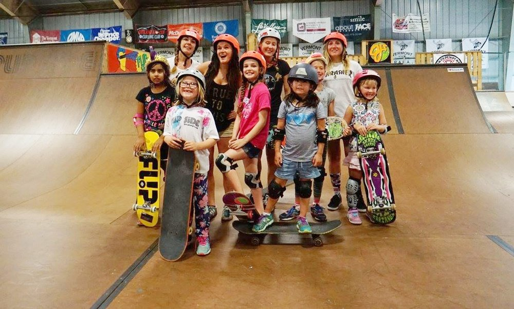 For the fourth year there will be Girls Skateboard Camp July 24 - July 28