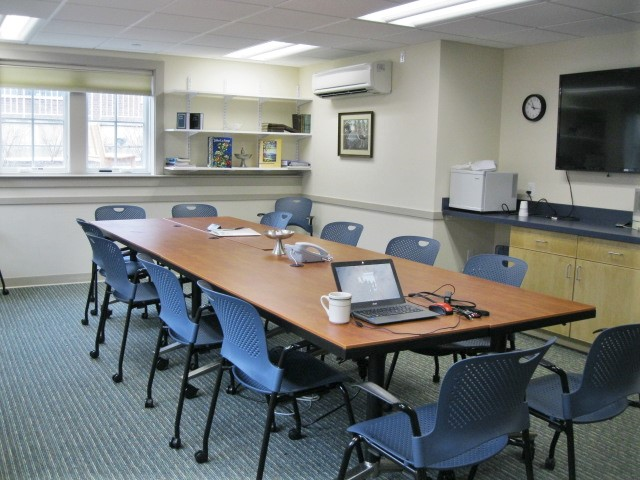 Full view of the conference room in our facilities