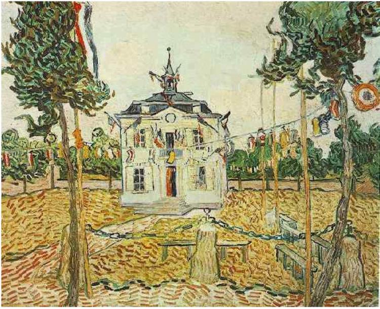 Auvers Town Hall 1890 - Vincent van Gogh