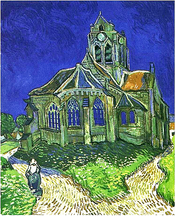 Church at Auvers 1890 - Vincent van Gogh