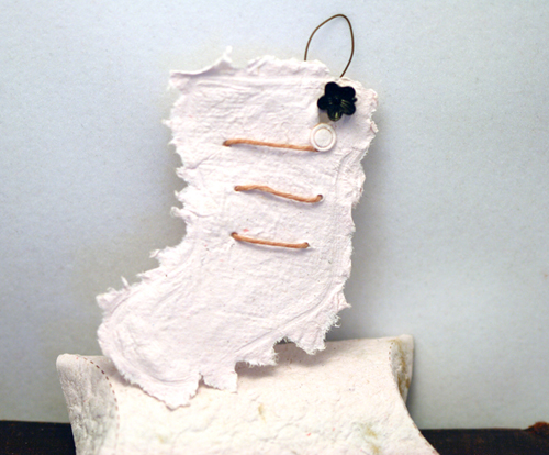 Poppy Seed Paper Stocking Ornament