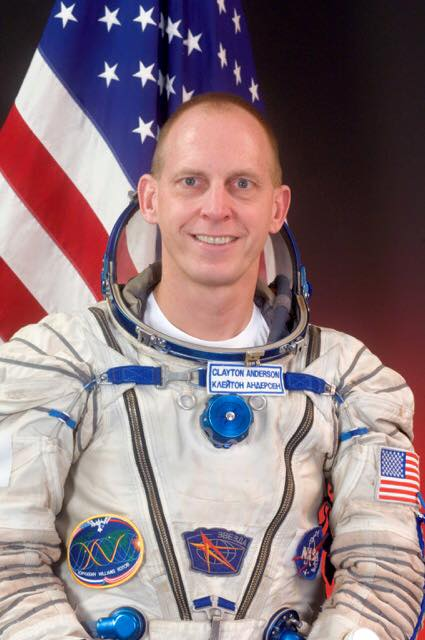 Clayton Anderson - Achieving the dream of every child, Clayton Anderson has lived in space for 167 days total. After being accepted to the NASA Astronaut program after 15 applications, he was elected to serve on 3 space shuttle missions and the International Space Station. Known for his fun loving personality, he currently holds the top spots for Popular Science's best 'astronaut selfies.'