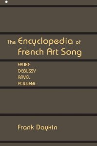 cover of the Encyclopedia of French Art Song