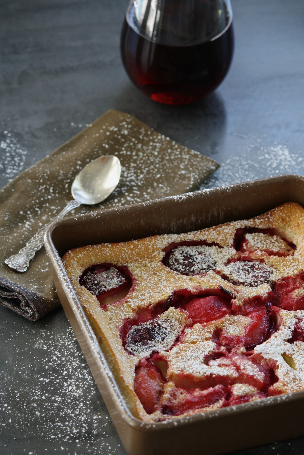 Food Photography - Plum Clafoutis