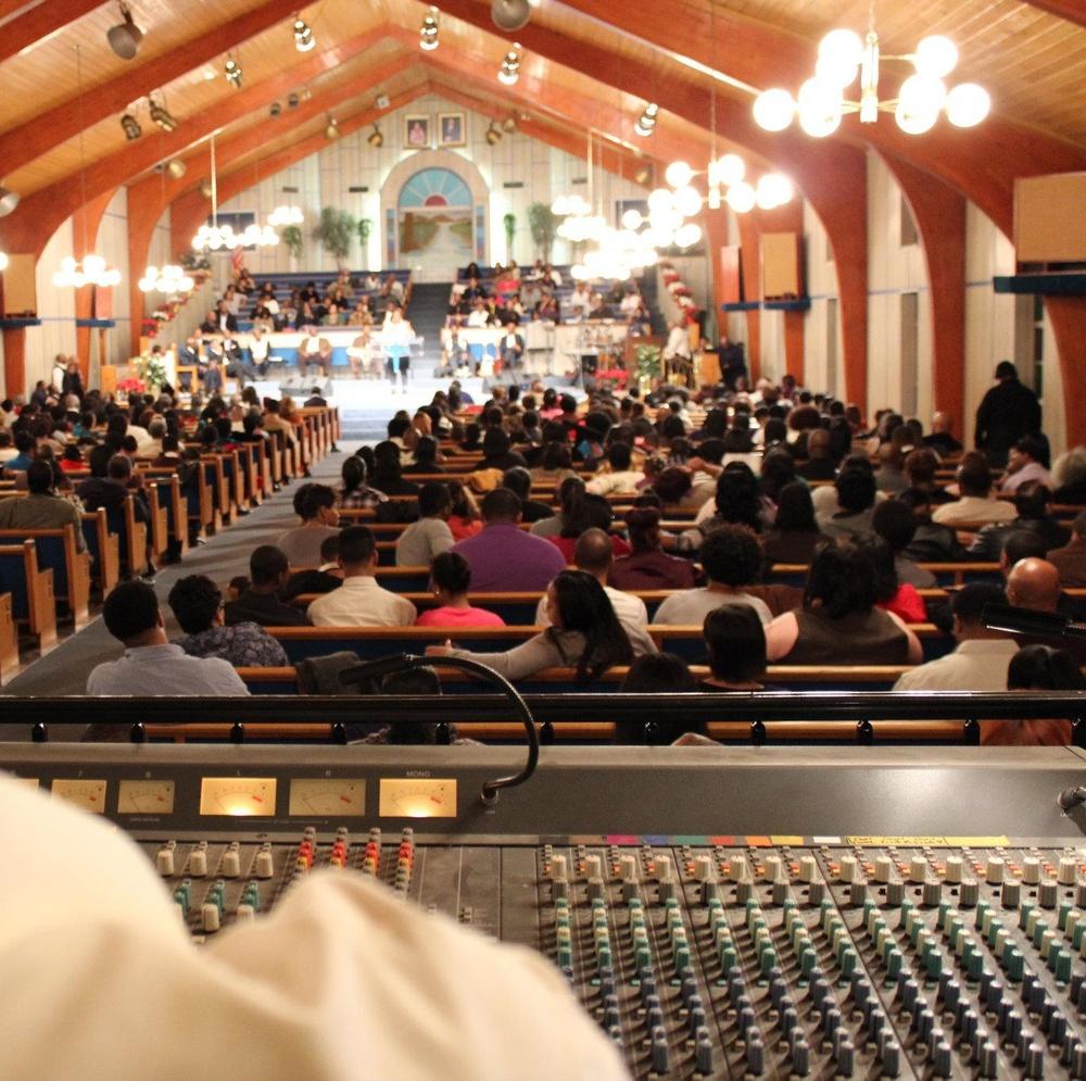 Eric Tanona Mixing International Gospel Center Service 1.jpg