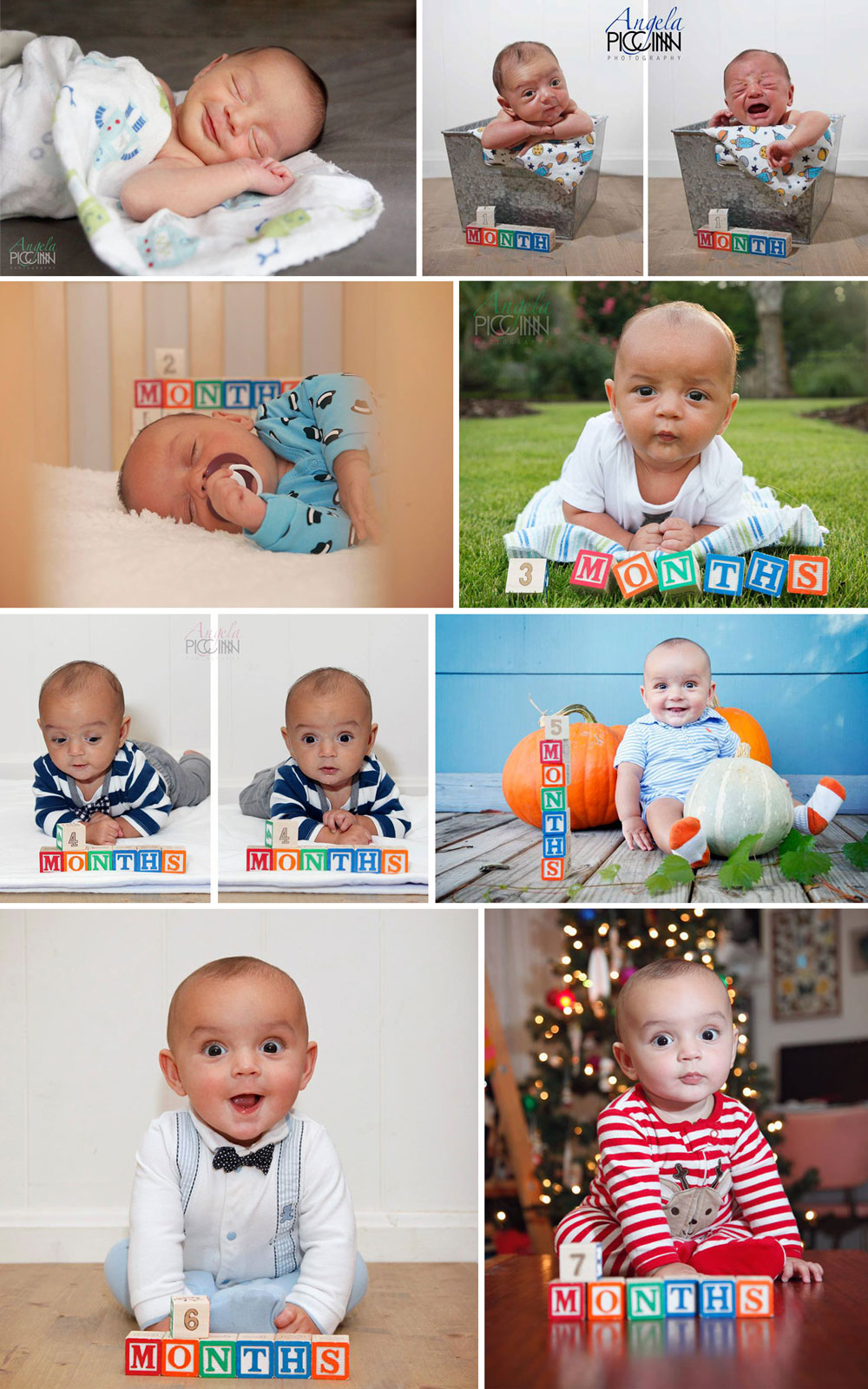 Oliver monthly photos