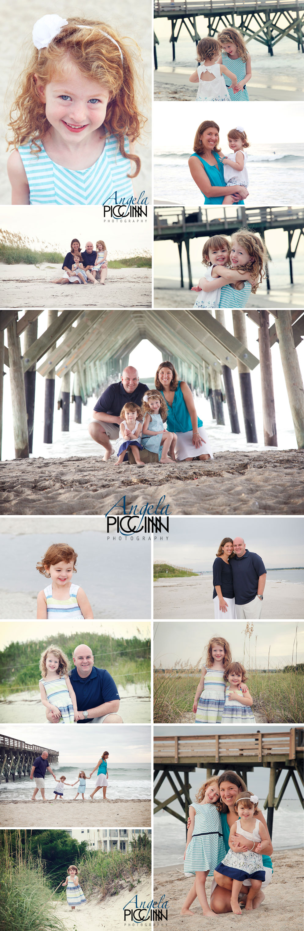Wrightsville Beach Family Portraits by Angela Piccinin