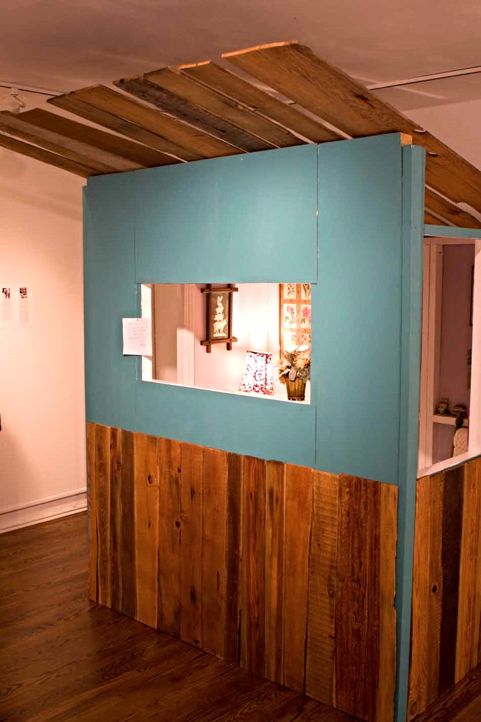 Kiosk: Rent-a-Grandma, 2012, exterior, installation at the Philadelphia Art Alliance, collaboration with Amy Linsenmayer