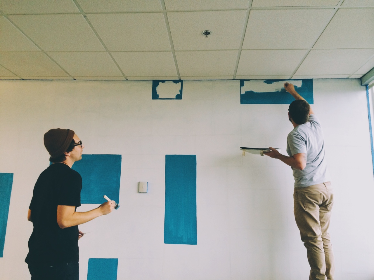 Painted a mural at work this past weekend. I fortunate enough to enlist some help from a couple of friends.