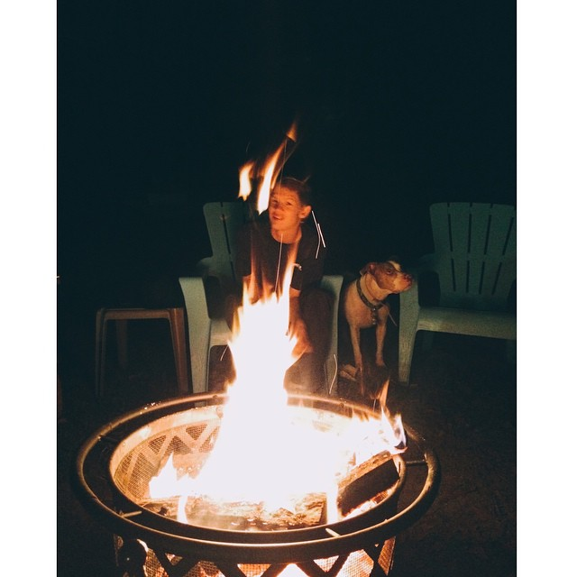 Jake and the Halloween fire