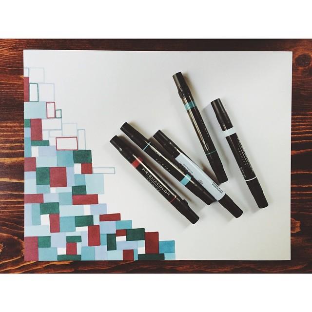 something's happening…. #illustration #drawing #doodle #art #wip #prismacolor #marker
