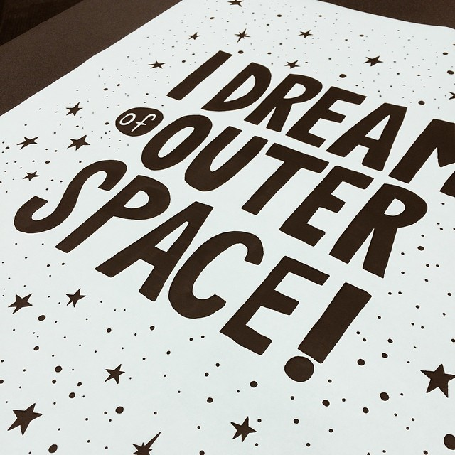 Got this printed real quick at Staples. Reprinting has official started. Hope to have the screen burned tonight or tomorrow and have it printed by the end of the weekend. I'm glad I'm finally starting to feel like I'm accomplishing things again. #screenprinting #screenprint #print #staples #process #illustration #drawing #type #typography #stars #space #outerspace #poster #design