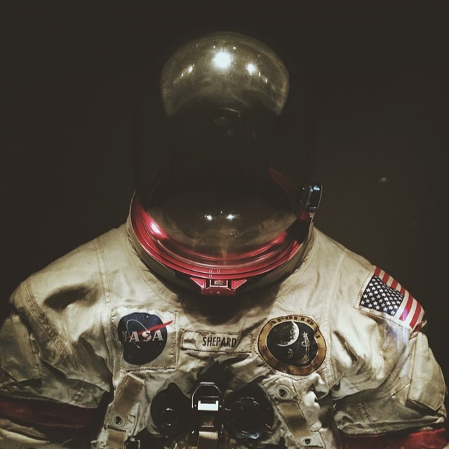 Space suits…. (at Kennedy Space Center Visitor Complex)