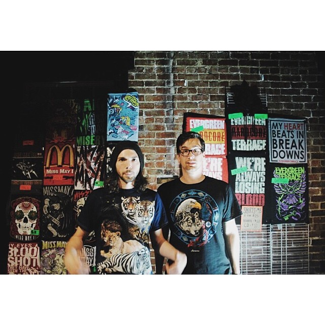 #tbt Cool Shirt Crew | Nashville, TN #merchlife #merchbros #tour #giglife #missmayi #evergreenterrace #coolshirtcrew