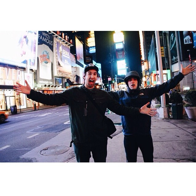 #tbt CXJ Jan. 2011 | Times Square #caseyjones #nyc #timessquare #tourlife #giglife