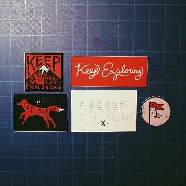 Stickers @wekeepexploring #chasetheflag  (at turtle's lair)