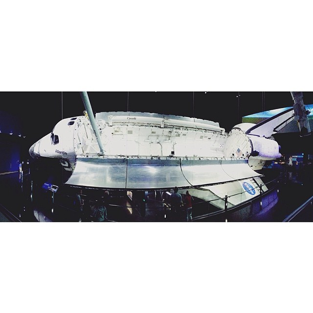 """That is the most graceful, beautiful vehicle we've ever had to fly in space."" #kennedyspacecenter #space #nasa #atlantis #shuttle"