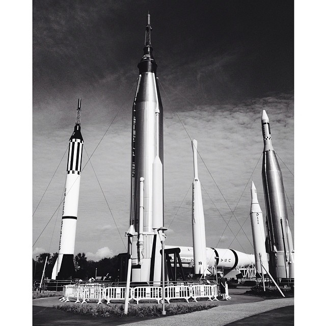 Good Morning… #nasa #space #kennedyspacecenter #rocketgarden  (at Kennedy Space Center Visitor Complex)