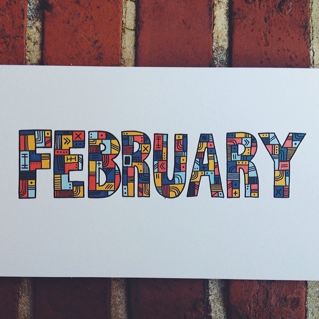 Sayonara February… #illustration #drawing #doodle #sharpie #prismacolor #markers #february  (at turtle's lair)