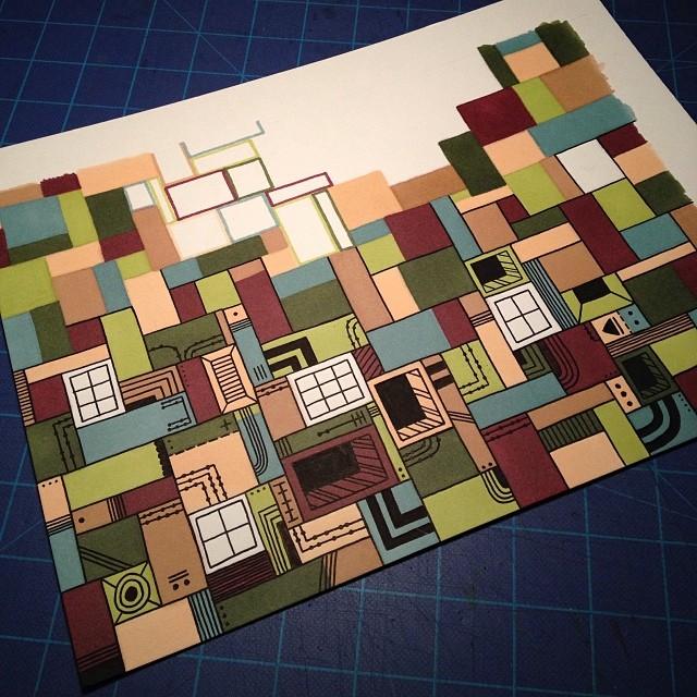 Progress… #illustration #drawing #doodle #sharpie #prismacolor #markers (at turtle's lair)