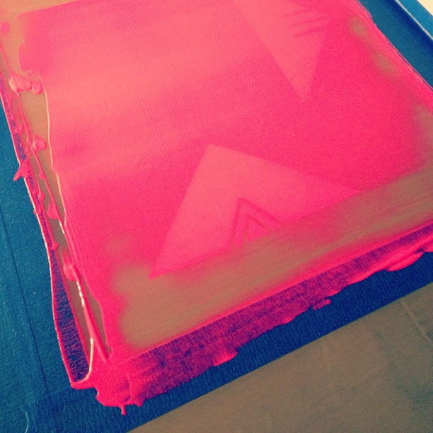 Printing… (at Screenprinters Anonymous)