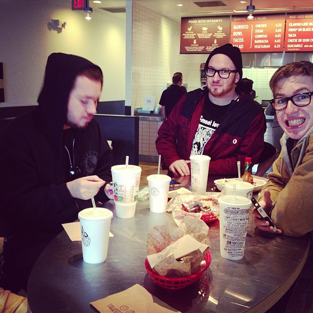Hanging with The Sheds (at Chipotle)