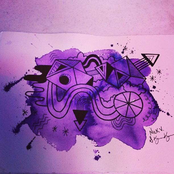 Artwalk drawing #3. Collab w/ @cmykaren