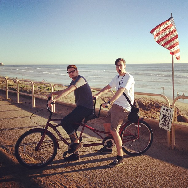 America (Poops and I at Huntington Beach Pier)