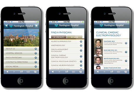 Huntington Hospital  Mobile Web Design  View Details >