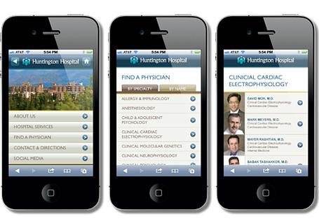 Huntington Hospital Mobile Web Design View Details >