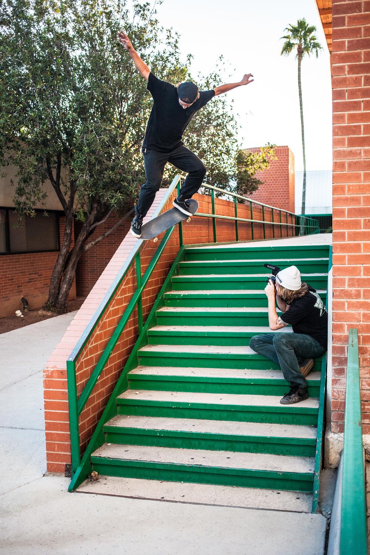 Kevin Braun / nollie crooked grind / Tucson, Arizona