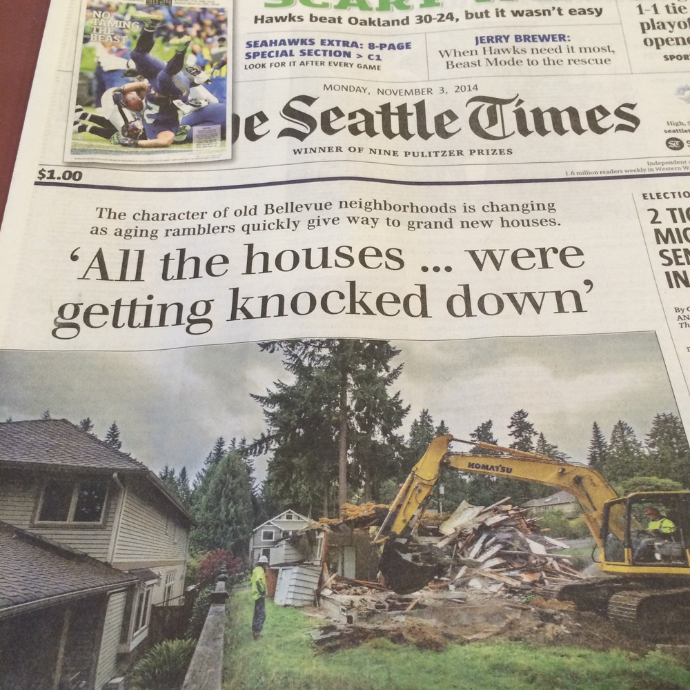 Photo taken my Roy Powell. The Seattle Times Nov. 3rd, 2014