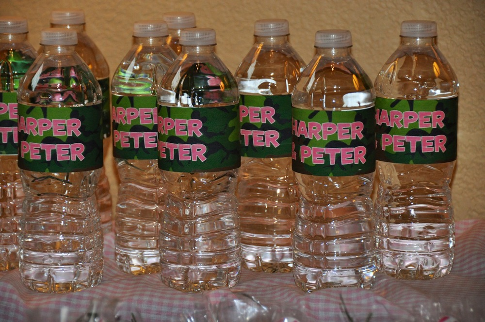 custom designed personalized water bottle labels