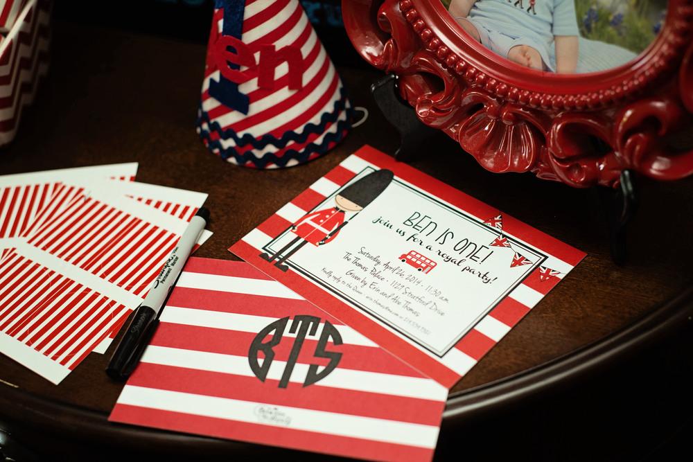 custom designed invitation first birthday british