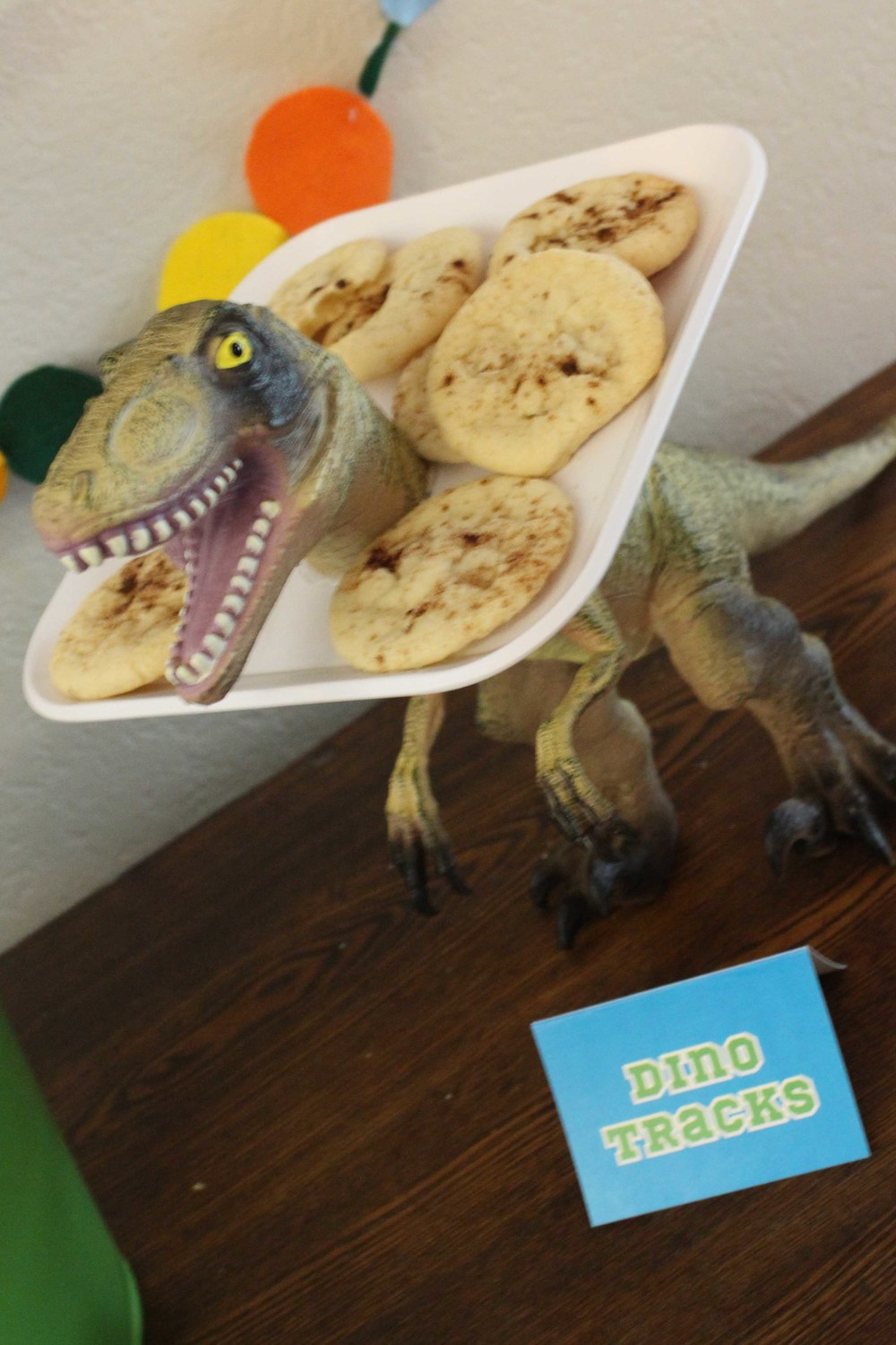 dinosaur bookclub cookies