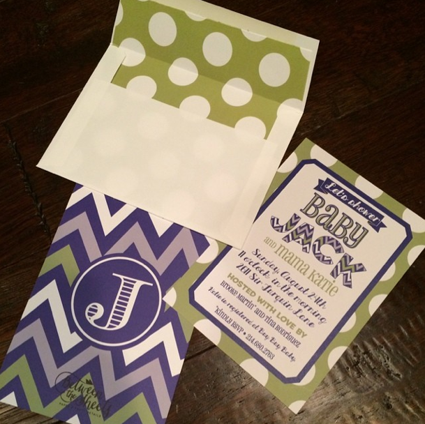 custom invite envelope liner