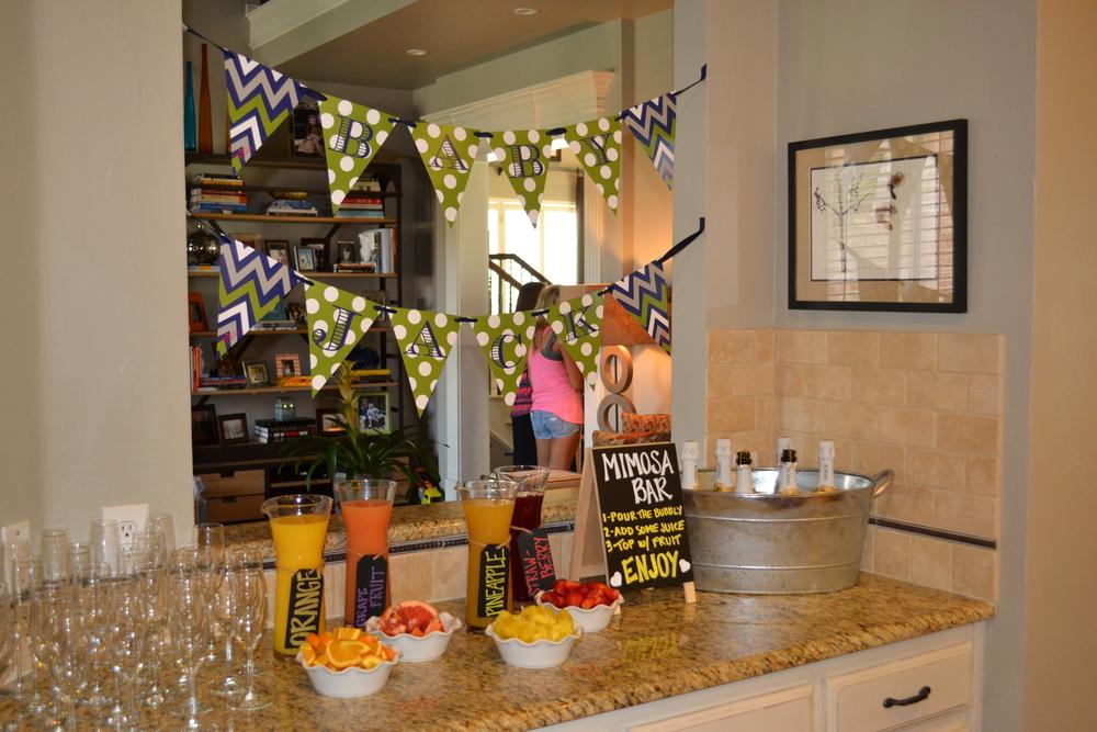 banner pennant custom mimosa bar