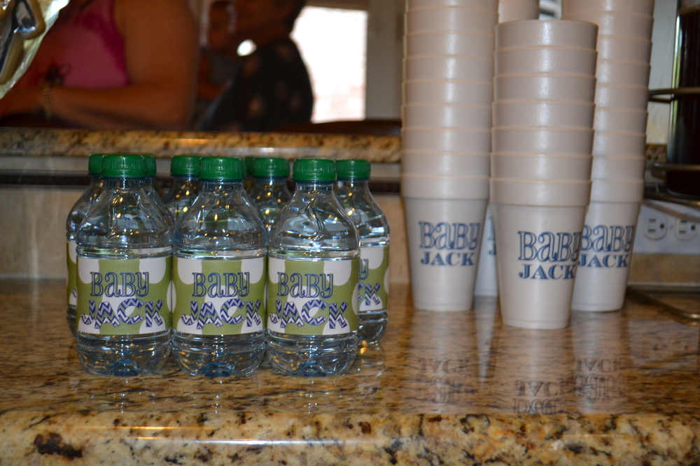 custom cups water bottle labels