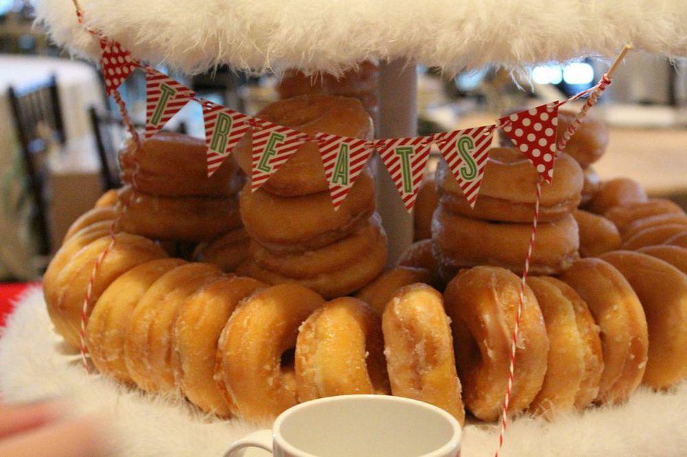 donut bunting custom