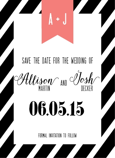 save the date stripe custom invite