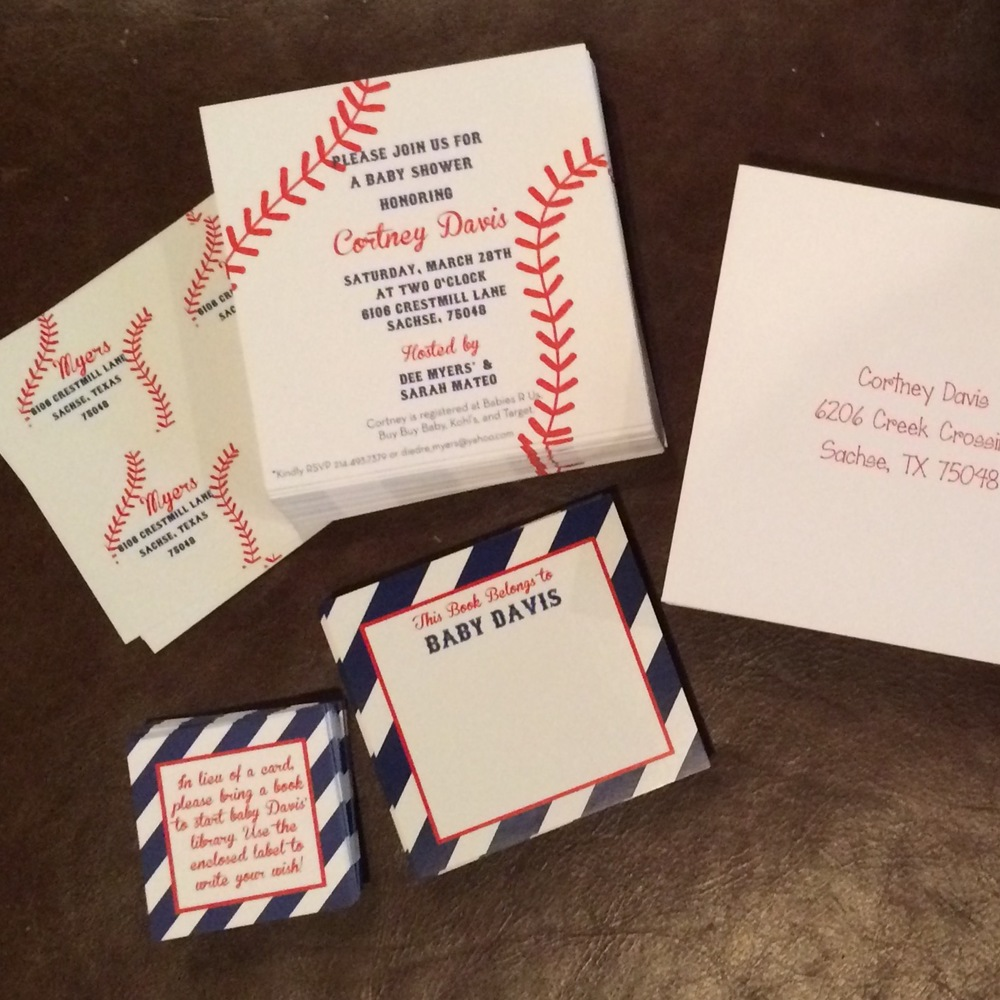 baseball shower baby boy custom invite