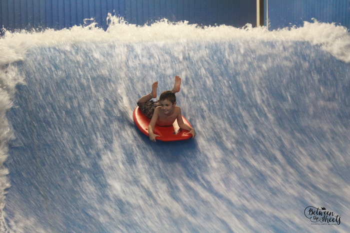 indoor surfing boy