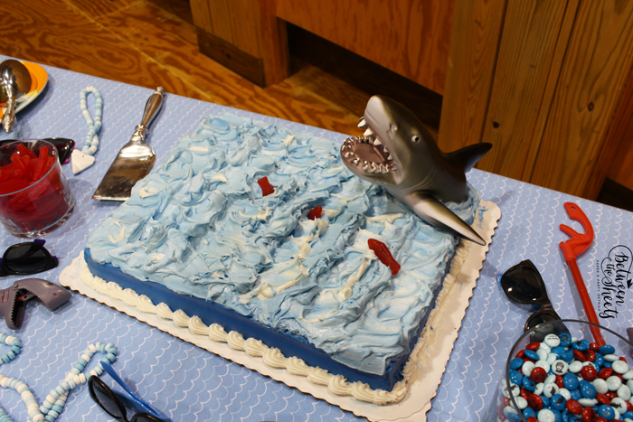 shark cake birthday party